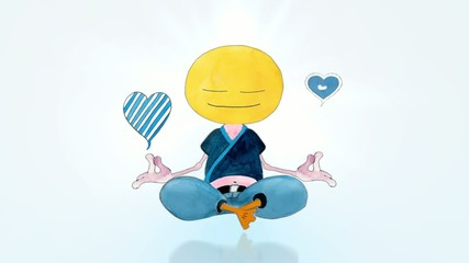 Happy Meditatingin Lotus Position. Seamlessly loop-able.