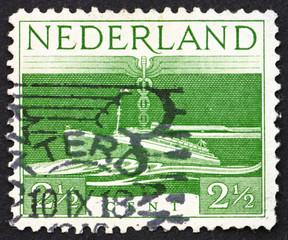 Postage stamp Netherlands 1944 S. S. Nieuw Amsterdam, Transatlan