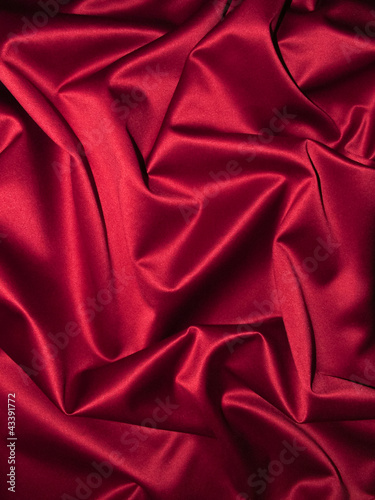 canvas print picture Roter Satin