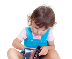Little girl with purse