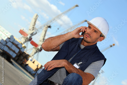 foreman on the phone in construction site