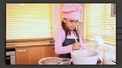 Children preparing delicious pastry