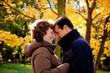 fall autumn old couple