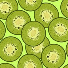 Kiwi slices square pattern background