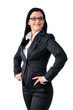 Confident business woman with hands in the hip