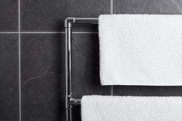 Towel rail in bathroom