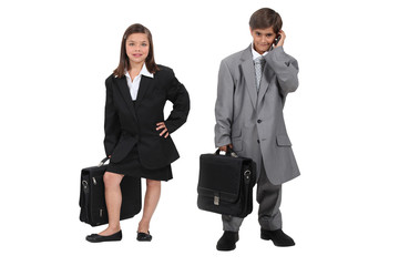 Children wearing suits