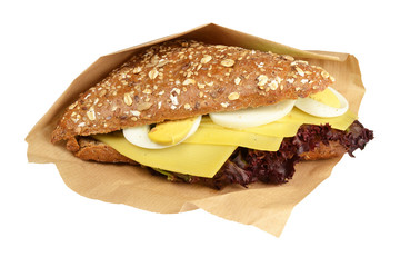 Healthy Sandwich on a white background.