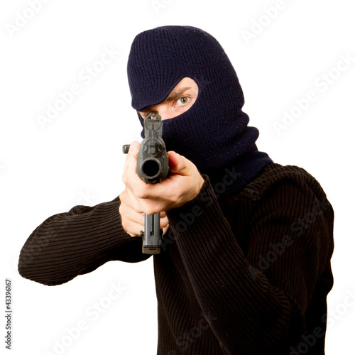 Photo of terrorist with gun