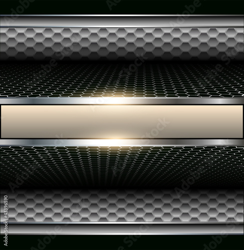 Background 3d metallic
