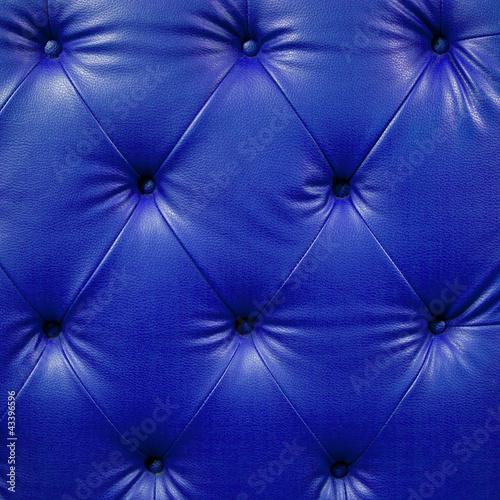 Staande foto Leder Close up blue luxury buttoned black leather