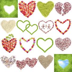 Heart symbols set