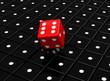 Der rote Spielwürfel