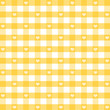 Seamless Gingham Hearts, pastel yellow, EPS has pattern swatch