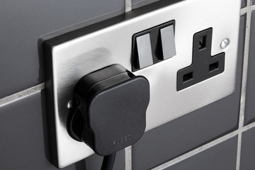 Plug socket in kitchen