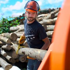 Forstarbeiter im Einsatz