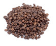 Heap of coffee beans at white background
