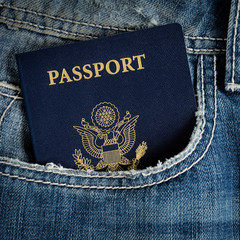 us passport in jeans