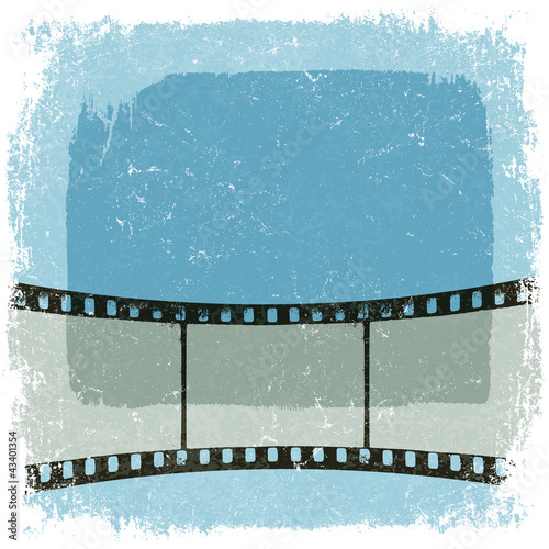 Grunge film strip poster. Vector, EPS10
