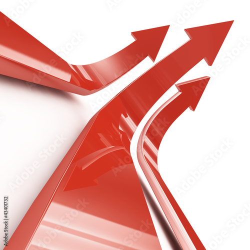 3D red arrows - Success concept