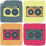 Audio cassette pop-art concept. Vector, EPS8 - 43402539