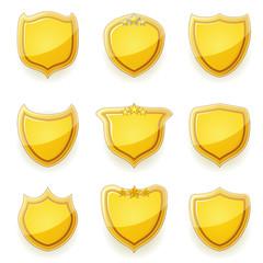 Nine golden shields
