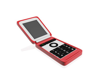 Teléfono móvil rojo