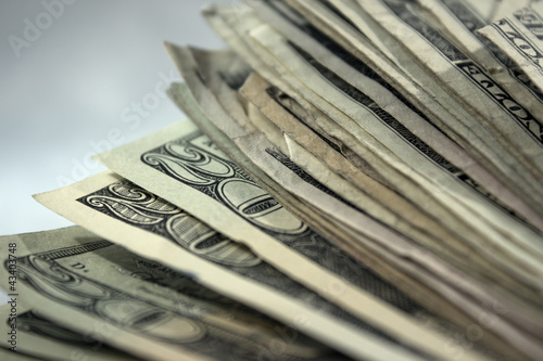 US Money Stack Background 1