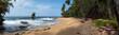 Fototapeten,strand,panorama,unberührt,lush