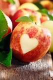 Love of apples concept