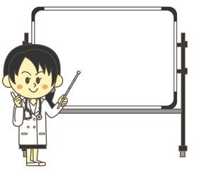 女医とホワイトボード