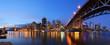 canvas print picture - Granville Bridge and Downtown Vancouver