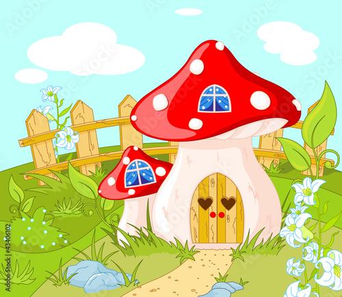 Staande foto Magische wereld House of Gnome