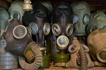 Used gas mask stored in museum