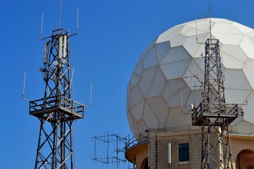 Dingli Radar Station with Blue Sky