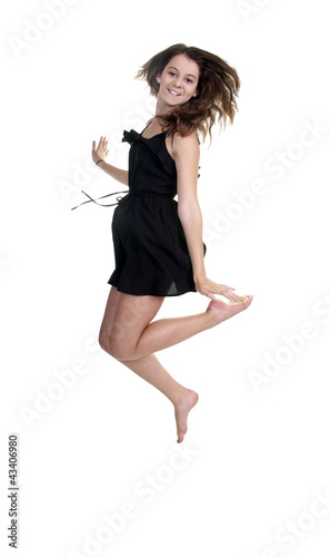 Hübsches, springendes Mädchen