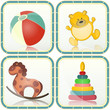 Baby toys icons