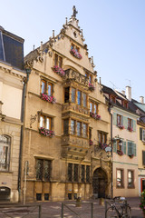 The famous house known as Maison Pfister in Colmar, France