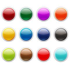 ボタン12セット(カラフル丸型)