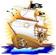 Fototapeten,pirat,schiff,piratenschiff,totenkopf