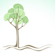 Vector background with tree