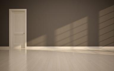 empty interior with  door