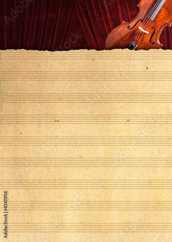 Leinwanddruck Bild Geigenlayout