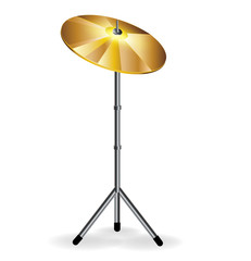 drums concept with cymbal