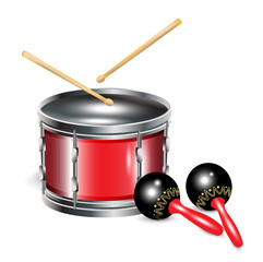 drums and maracas
