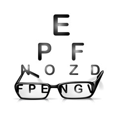 glasses and eyes test