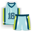 basketball shirt and trousers