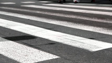 Zebra Crossing - Pedestrians walk