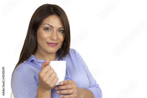 M11 5 Frau mit Kaffeetasse