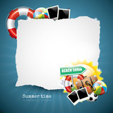 Summer glossy background with place for your text
